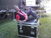 Jocke backstage på Hamnfestivalen 2008