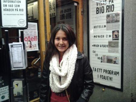 Nora Rios, 14 år, gör TV-debut på söndag