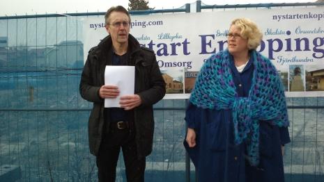 Anders Wikman och Marie Lindeberg från Nystart Enköping tar plats i majoriteten.