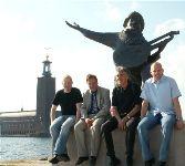 Jocke, jag, Lasse Åberg och Niklas Hävelid marknadsförde Norr Mälarstrand 2005
