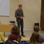 Gustaf Fridolin är van vid att undervisa.