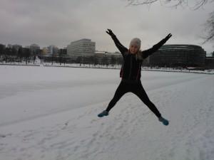löpning på vintern