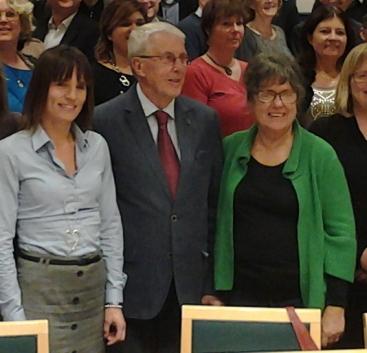 Nya presidiet utgörs av Jessika Rosvall, Rolf Carlsson och Anneli Djurclou.